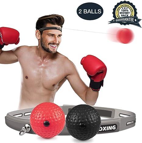SIZIMA Pelota de Boxeo Reflex, Bola de Boxeo de 2 Niveles de ...