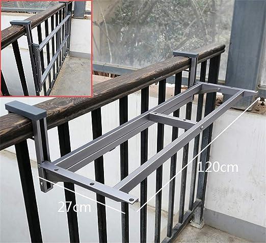 Ahorro de espacio Balcón Barandilla colgado del soporte, Plegable Altura ajustable Patio pasamano de la cubierta Marcos Mueble de jardín (Sólo Enmarcado): Amazon.es: Hogar