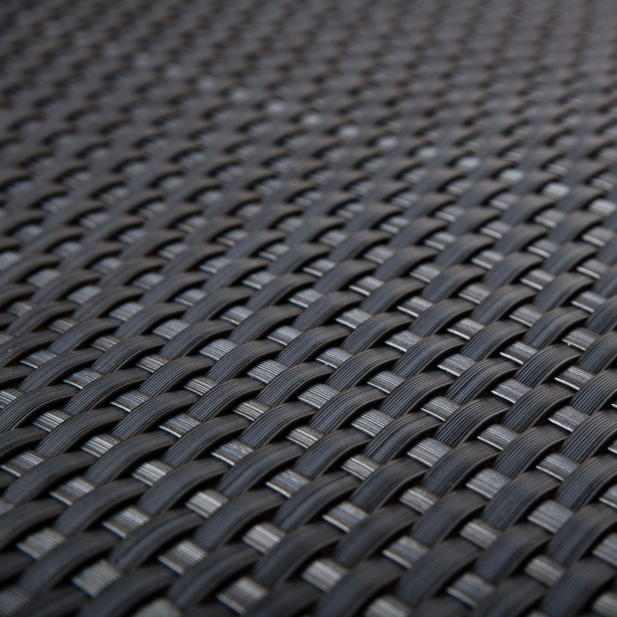 Polyethylene Rattan Patio Privacy Screen, Balcony Covering, Anthracite, 0.9 m Wide, Sold by the Metre Siesta Garden