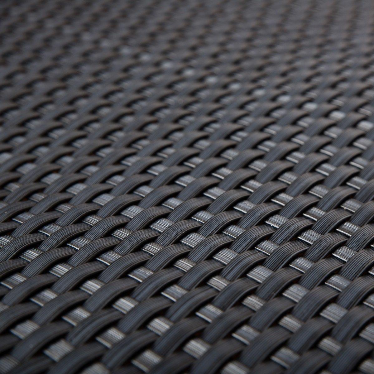 Frangivista da terrazza in rattan sintetico, protezione color antracite con 0,9m di larghezza, merce al metro 9m di larghezza Siesta Garden