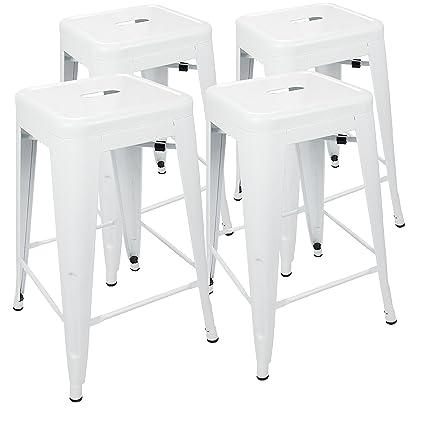 UrbanMod 24u201d Metal Bar Stool By White Counter Stools Set Of 4   Tolix Stool