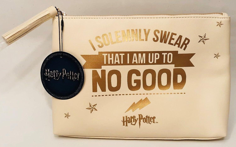 Primark~Harry Potter~Cream~Gold~Bolsa de maquillaje grande~estuche de aseo ~: Amazon.es: Belleza