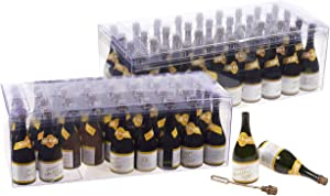 Champagne Bottle Bubble Wands, Party Favors (72-Pack)