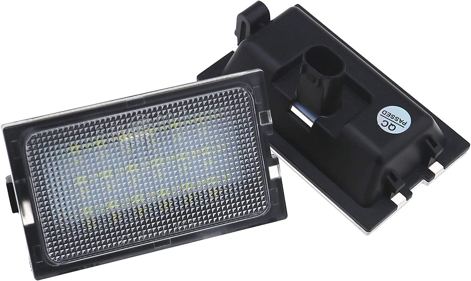 2Pcs LED Licence Number Plate Light Assembly Low Power Compatible with Range Rover Sport Vehicles L320