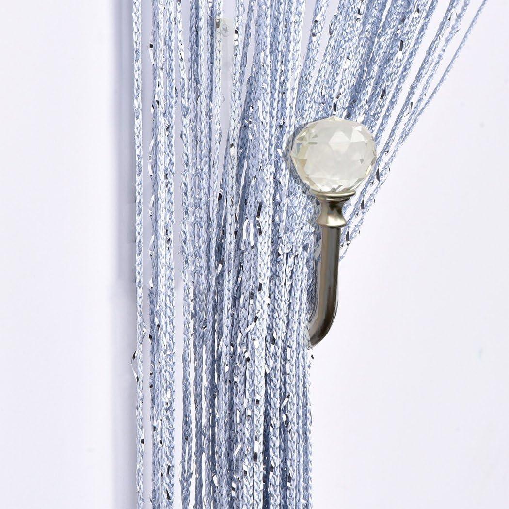 2 Pack PHOEWON/® Vorhang Raffhalter Kristall GardinenhalterVorhang Holdbacks Metall Raffhalters Raffb/ügel f/ür Vorhang Bronze