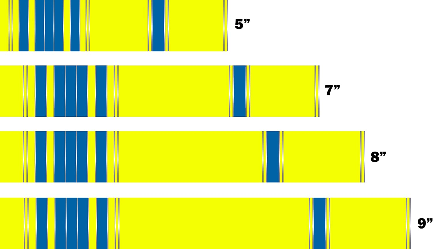 White Water Archery Fluorescent Neon Yellow Blue Cresting Traditional 1 Arrow Wraps 15Pc