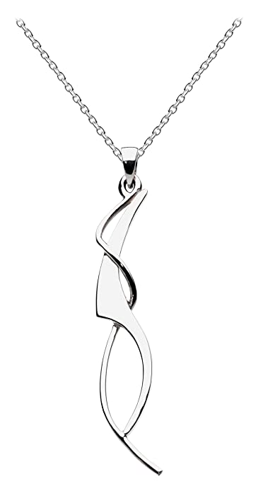 Dew Womens Sterling Silver Flower Necklace of 18 Inch r8DFB2FoGT