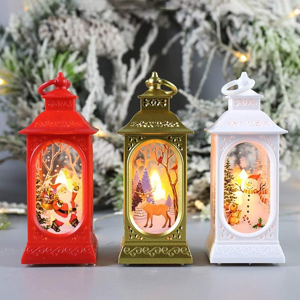 TIANMI Christmas Decorative Lantern,Flame Effect LED Lantern,Night Light LED Christmas Lantern Indoor Lanterns Decorative,Outdoor Hanging Lantern,Decorative Candle Lanterns