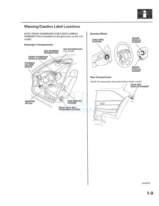 2003 2004 2005 Honda Accord Shop Service Repair Manual Fire Engine Drivetrain Diagram Book Automotive