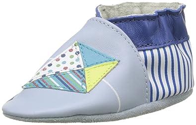 Robeez Unisex Baby Kites Krabbelschuhe, Blau (Bleu Clair), 21/22 EU