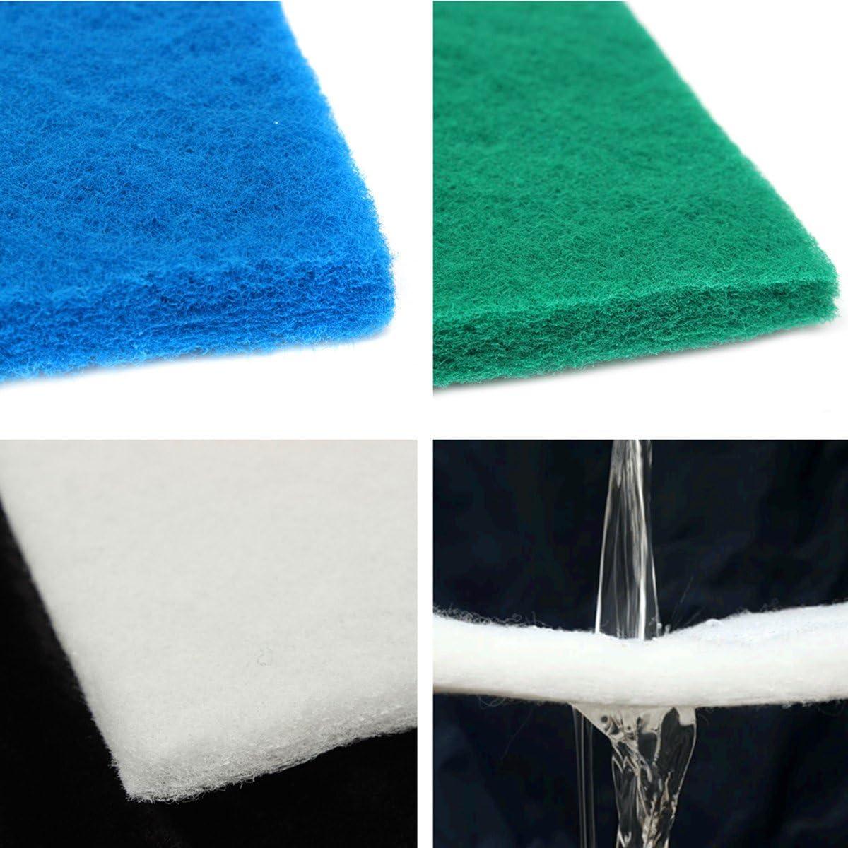 MYAMIA 50x50x3Cm Biochimique Filtre en Mousse Coton /Éponge Tampon De Poisson pour Aquarium R/éservoir /Étang-Vert