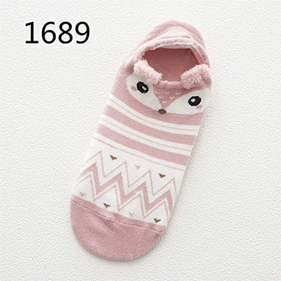Amazon.com: Cute Animal Cotton Socks Female Kawaii Cat With Dog Summer Short Socks,A: Clothing