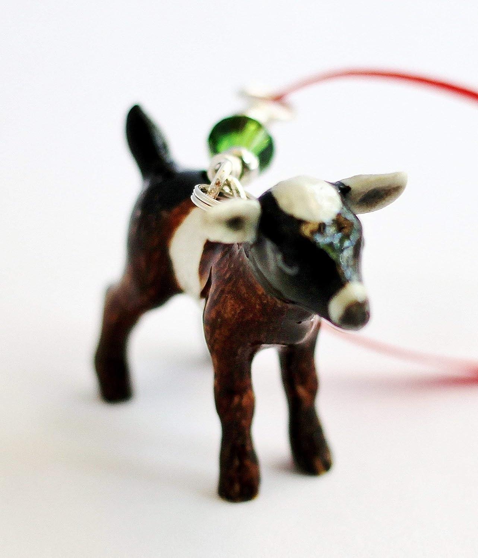 Christmas Goat.Amazon Com Goat Kid Small Christmas Ornament Porcelain Baby