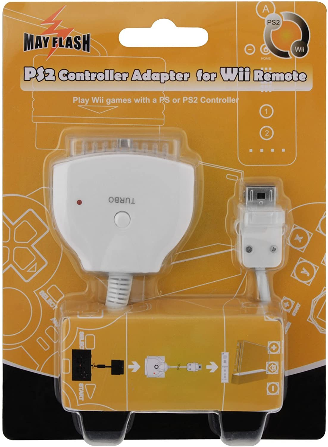 MAYFLASH W004 Ps2 Controller Adapter for Wii/Wii U Remote