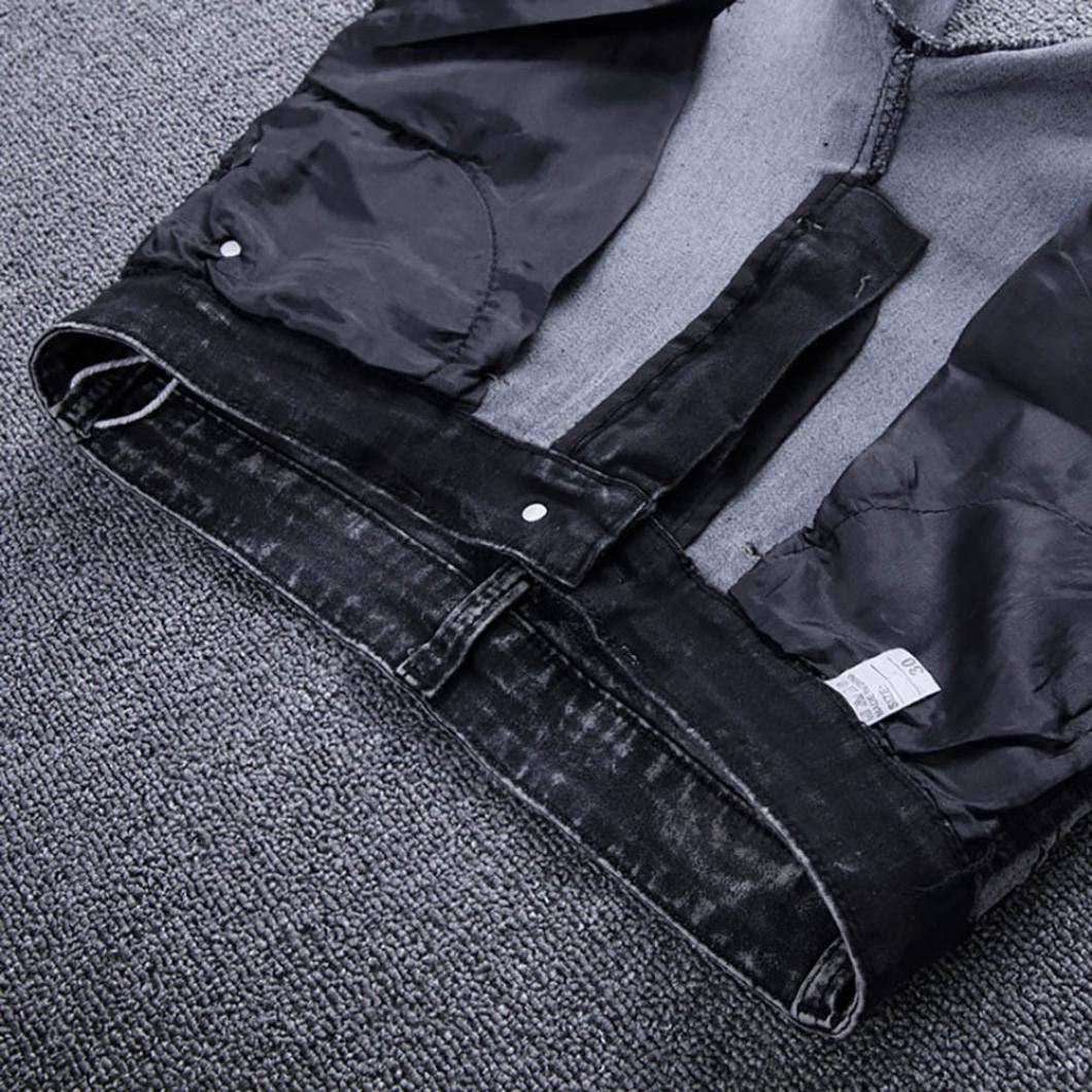 Mens Skinny Stretch Denim Pants Pure Cotton Pleated Ripped Freyed Slim Jeans Trousers Clearance