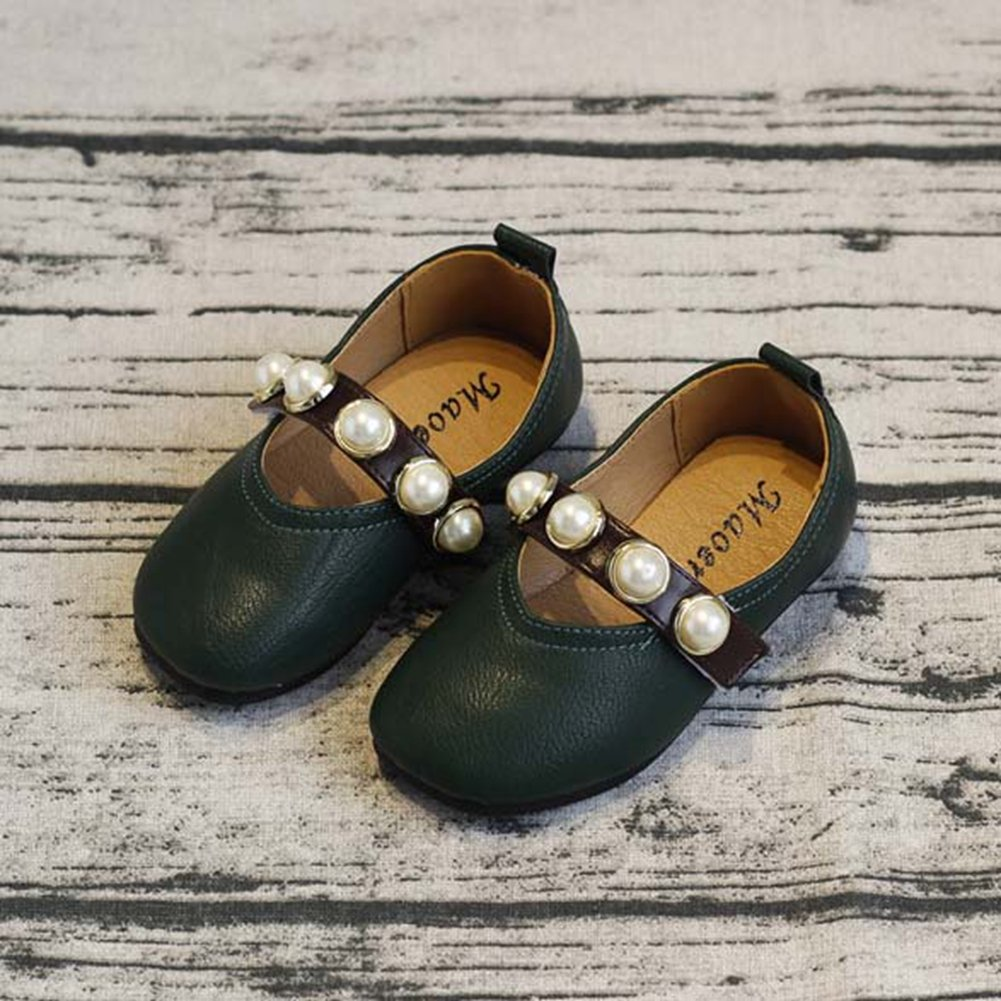 F-OXMY Toddler Little Girls Anti-Slip Breathable Mary Jane Dress Shoes Comfort Soft Ballet Shoes