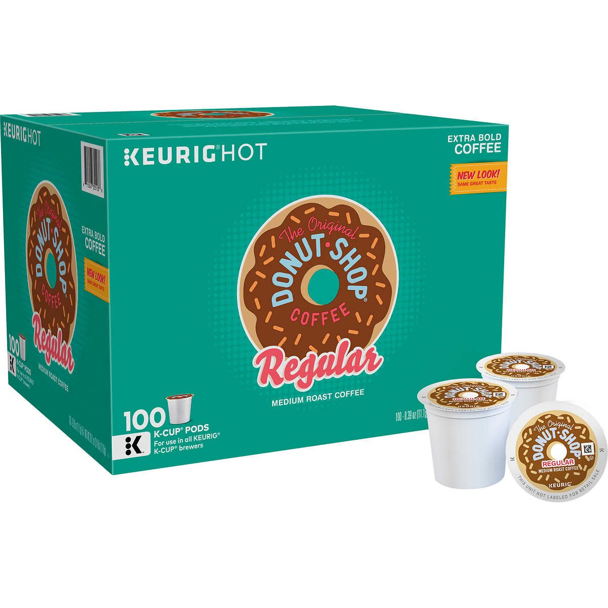 The Original Donut Shop Coffee, Medium, 100 K-Cup Pods by Donut Shop Classics