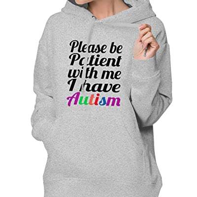 Be Patient with Me I Have Autism Hoodie Sweatshirt with Pockets