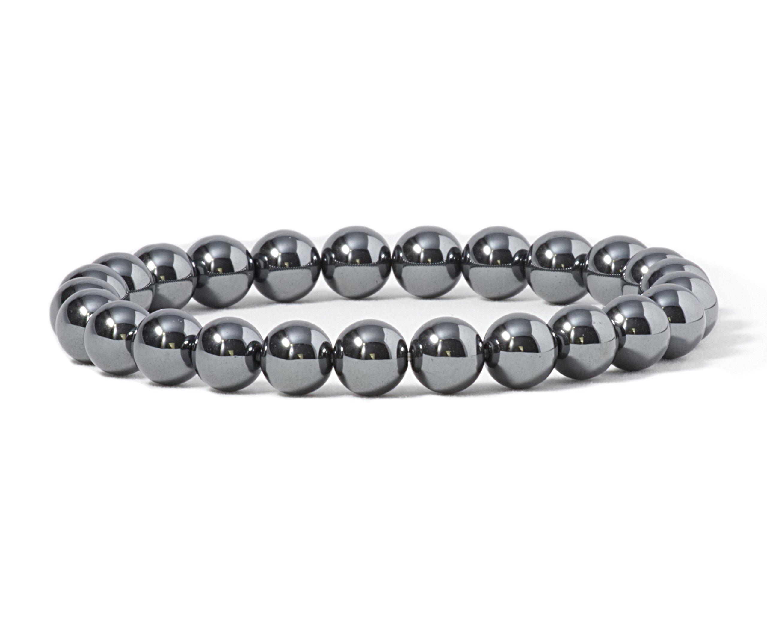 Cherry Tree Collection Gemstone Beaded Stretch Bracelet Large Sizes Medium 6mm Round Beads Small