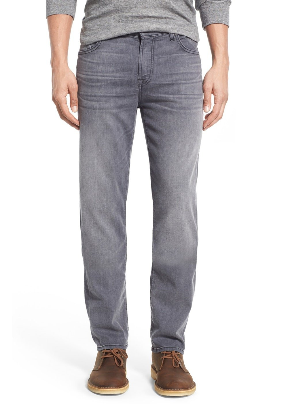 7 For All Mankind Men's ''Slimmy'' Slim-Straight Leg Jeans (28, Mercury Grey)