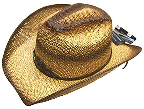 a23784dcdc3b9 Image Unavailable. Image not available for. Color  Modestone Unisex Straw  Cowboy Hat Gold