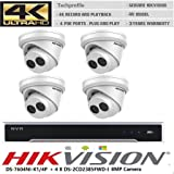 Hikvision NVR DS-7604NI-K1/4P+ 4X DS-2CD2385FWD-I 8MP 4mm Camera PoE 4K CCTV