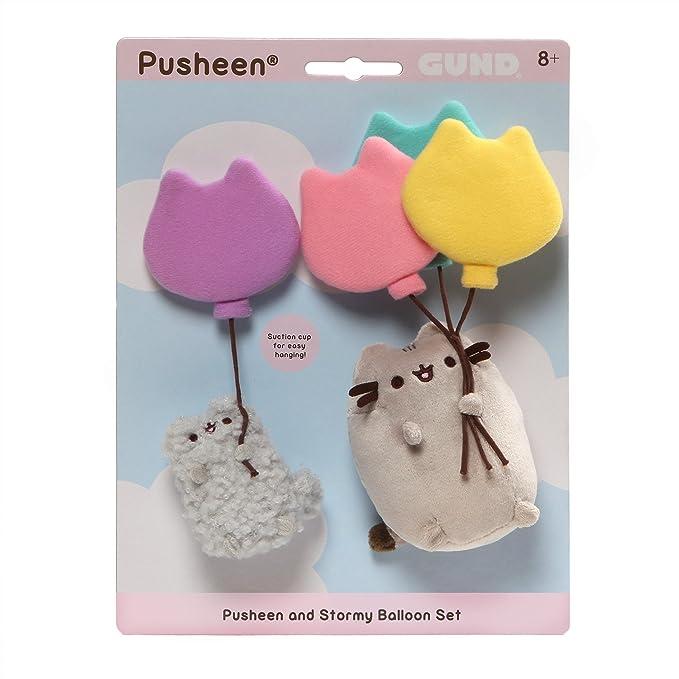 Gund - Pusheen Peluche Stormy con Balones, Multicolor, 20.3 x 6.4 x 12.7 cm (Enesco 4060106): Amazon.es: Juguetes y juegos