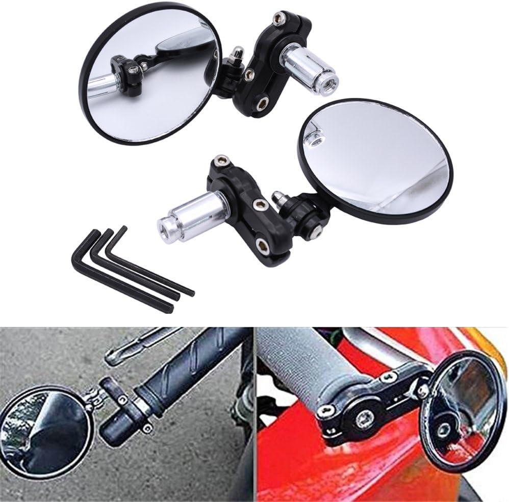 Negro NATGIC 1 par de Pernos roscados universales de 8 mm 10 mm para Motocicleta retrovisor retrovisor retrovisor retrovisor