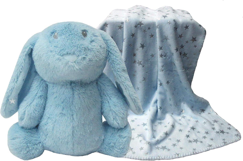 APEX GIFTS - Set Peluche y Manta - Conejo Azul