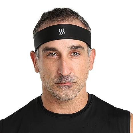 Amazon.com   SAAKA Men s Fully Adjustable Headband. Sweat Headband ... 7462c2fd76b