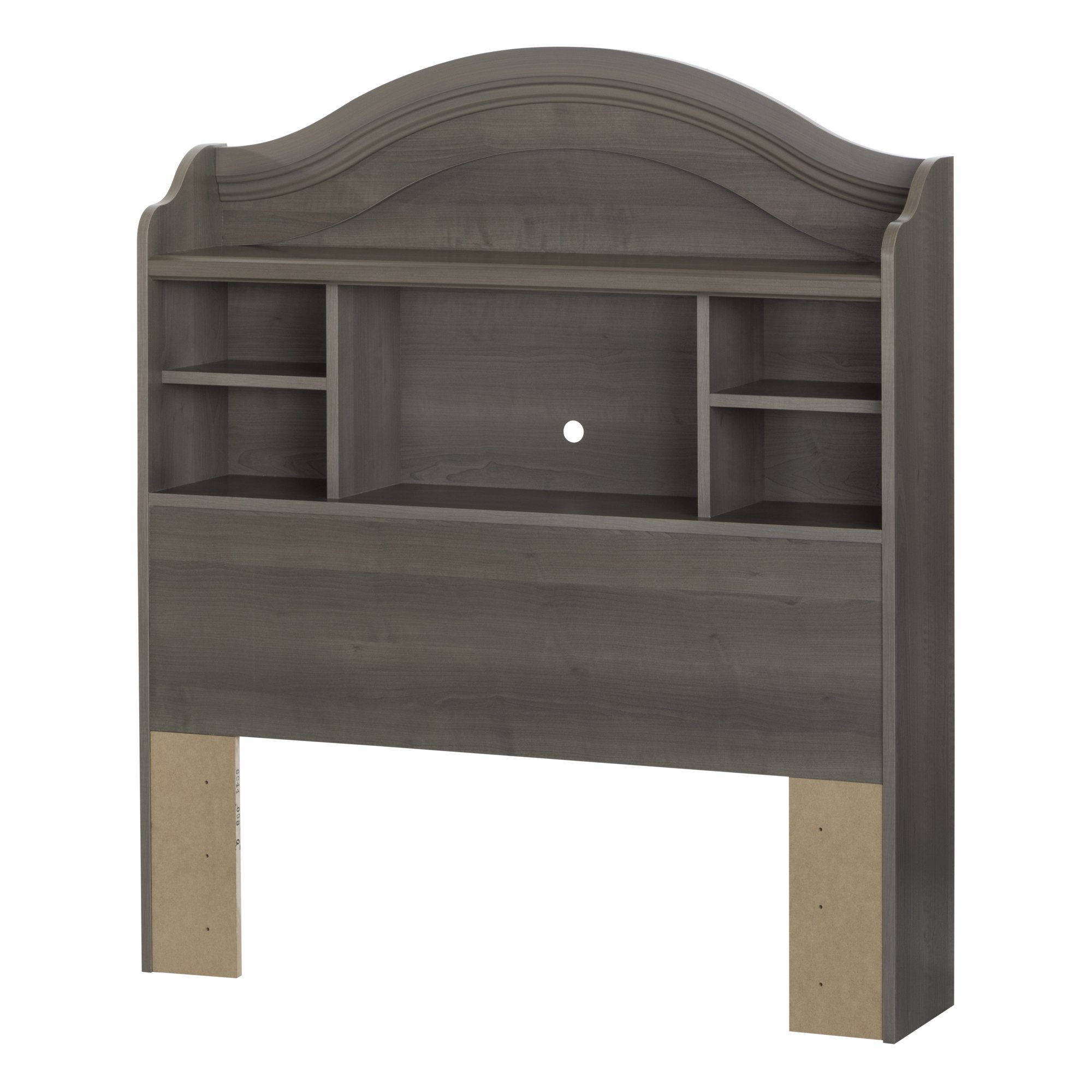 South Shore Savannah 39'' Bookcase Headboard, Twin, Gray Maple