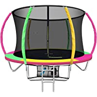Everfit 8/10/12/14/16FT Trampoline Round Trampolines with Basketball Hoop Kids Present Gift Enclosure Safety Net Pad…