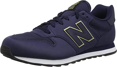 Children Boys New Balance 500 Trainers In Blue Navy