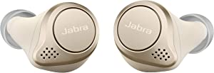 Jabra Elite 75t Earbuds – Alexa Enabled, True Wireless Earbuds with Charging Case, Gold Beige – Noise Cancelling Bluetooth Earbuds with a Comfortable, Secure Fit, Long Battery Life, Great Sound