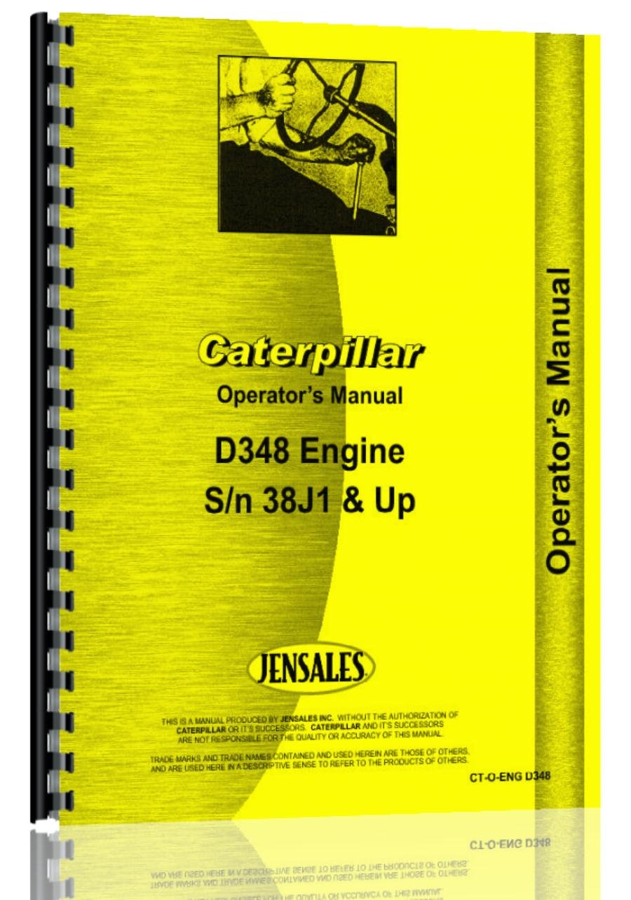Caterpillar d348 Motor los operadores Manual 38j1 Up: Amazon.es: Amazon.es