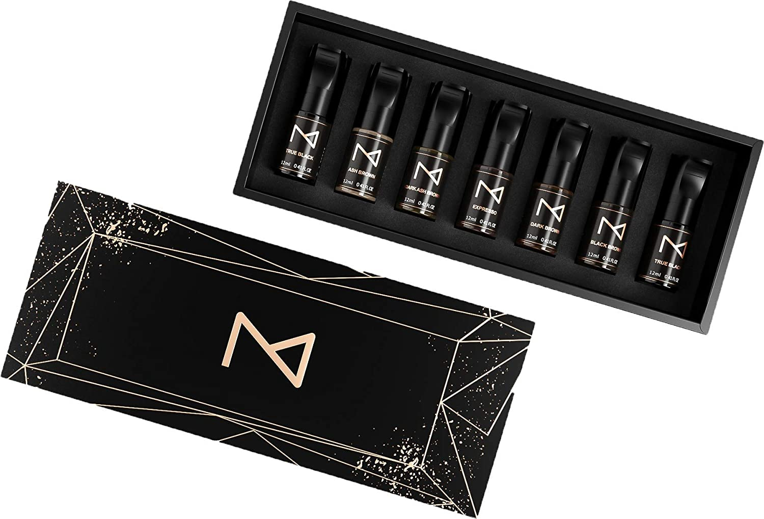 M | Cosmetic Medical Grade LIQUID Pigment Ink Set – Set of 7 Colors | For Machine Use | Professional Pigment Set For Ombre Powder Brows & Microblading Eyebrows | FOR PROFESSIONALS ONLY