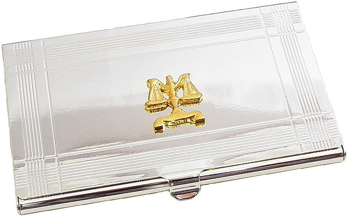 Silver Business Card Case for Lawyers
