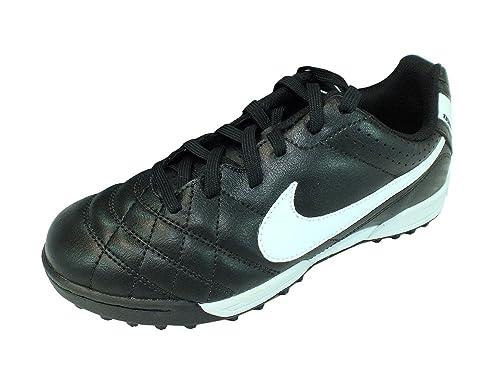 2472ba05ff7a9 Nike - Botas de fútbol para niño Negro y Blanco  Amazon.es  Zapatos y  complementos
