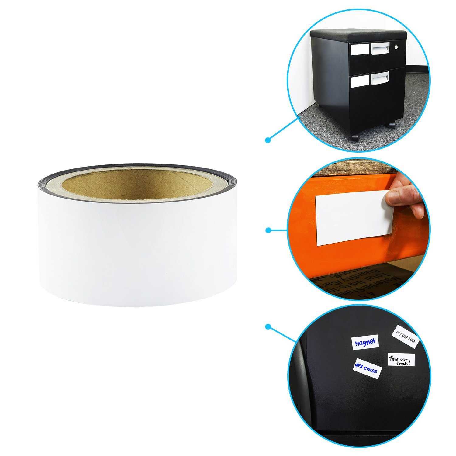 Amazon Houseables Magnetic Roll Dry Erase Magnet Strip