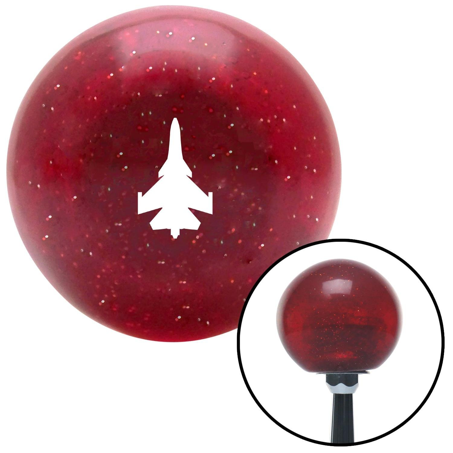 American Shifter 282360 Shift Knob White Jet Red Metal Flake with M16 x 1.5 Insert