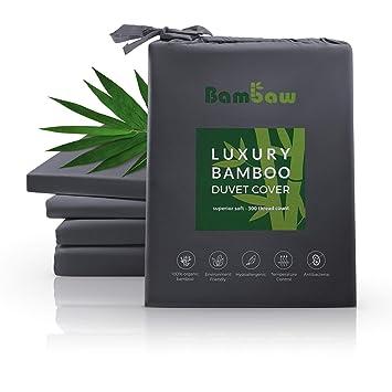 Bambaw Housse De Couette Bambou | Ultra Doux | Drap Housse Couette