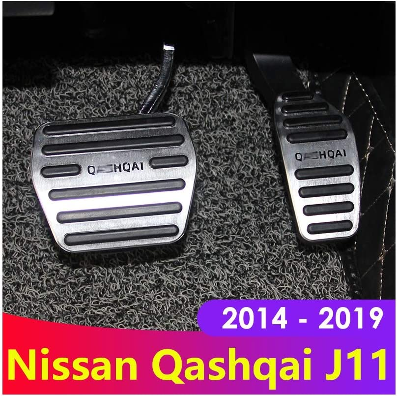 ZHOUMOTB Aluminum Alloy Car Styling Accelerator Gas Pedal Brake Pedal Cover,for Nissan Qashqai j11 2014 2015 2016 2017 2018 Accessories