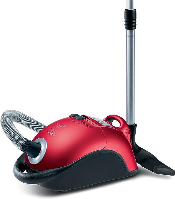 Bosch BSG82425 aspirador - Aspiradora (2400W, 100W, 220-240 V, 50 Hz, 10 A, Cilindro, Bolsa para el polvo, Negro, Rojo): Amazon.es: Hogar