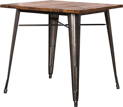 New Pacific Direct Metropolis Metal Dining Table