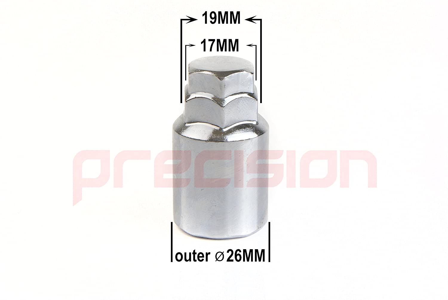 Chrome Locking Bolts for Genuine /& Aftermarket Alloy Wheels M12x1.25x28mm✓ 60/° Taper✓ Part No.B22