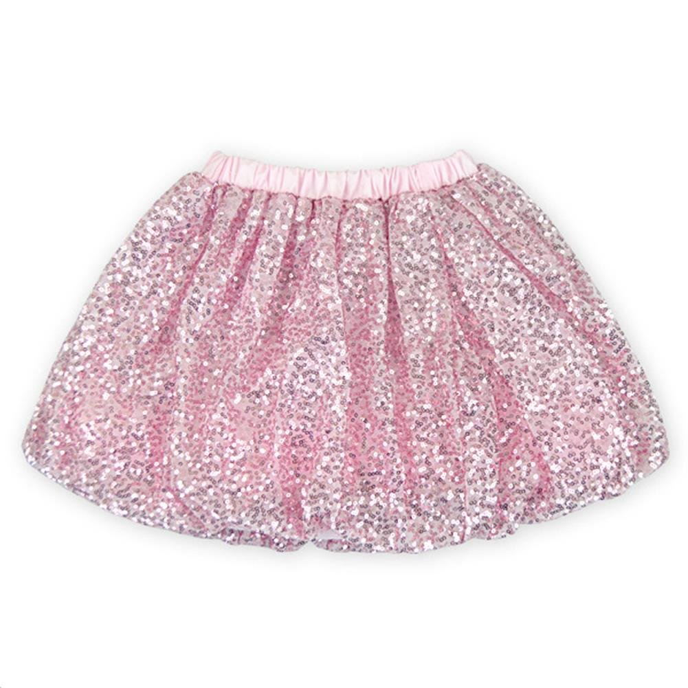 Coralup Little Girls Sparkle Sequins Ballet Tutu Skirts D7004(Pink,4-5Y)