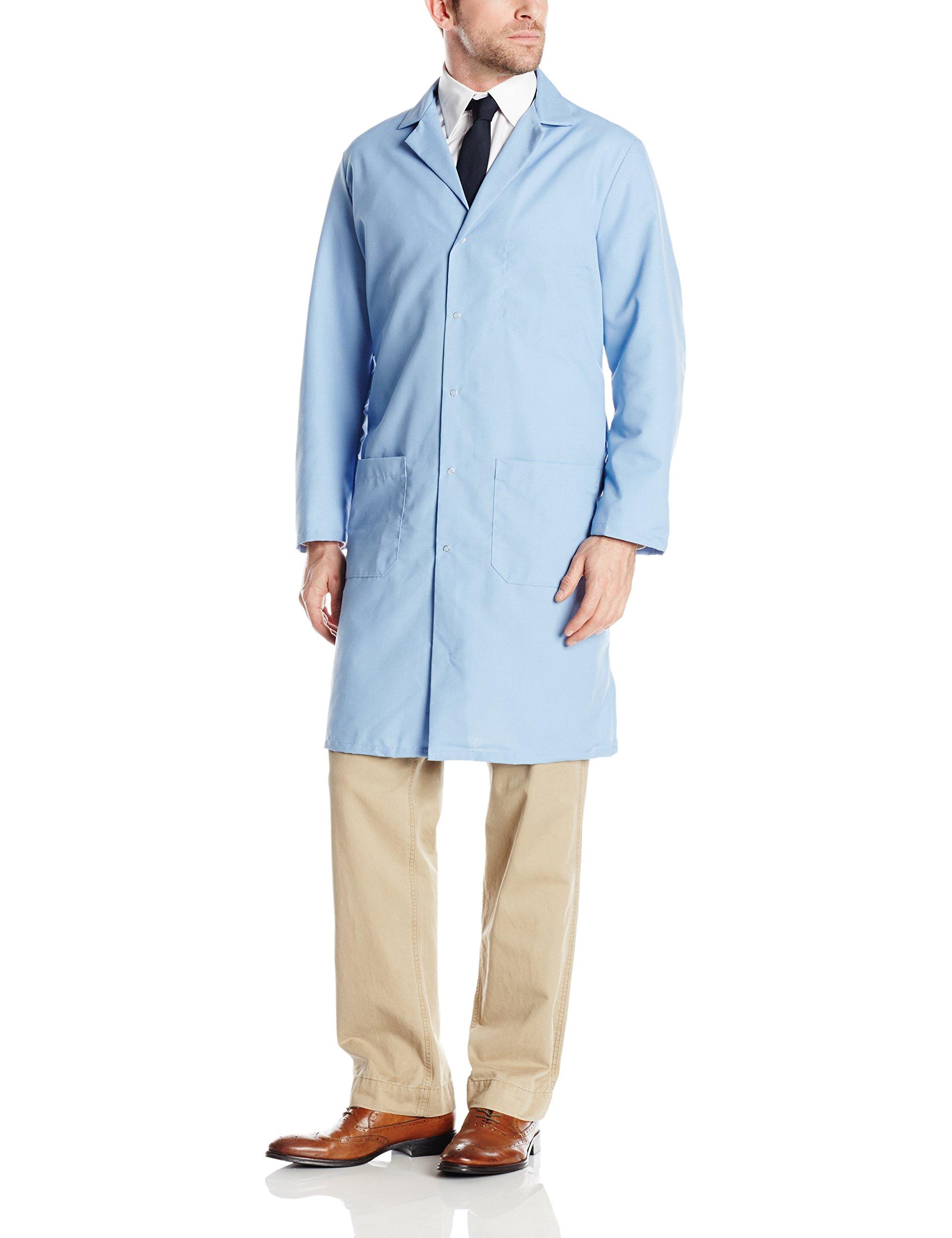 Red Kap Men's Lab Coat, Light Blue, X-Large