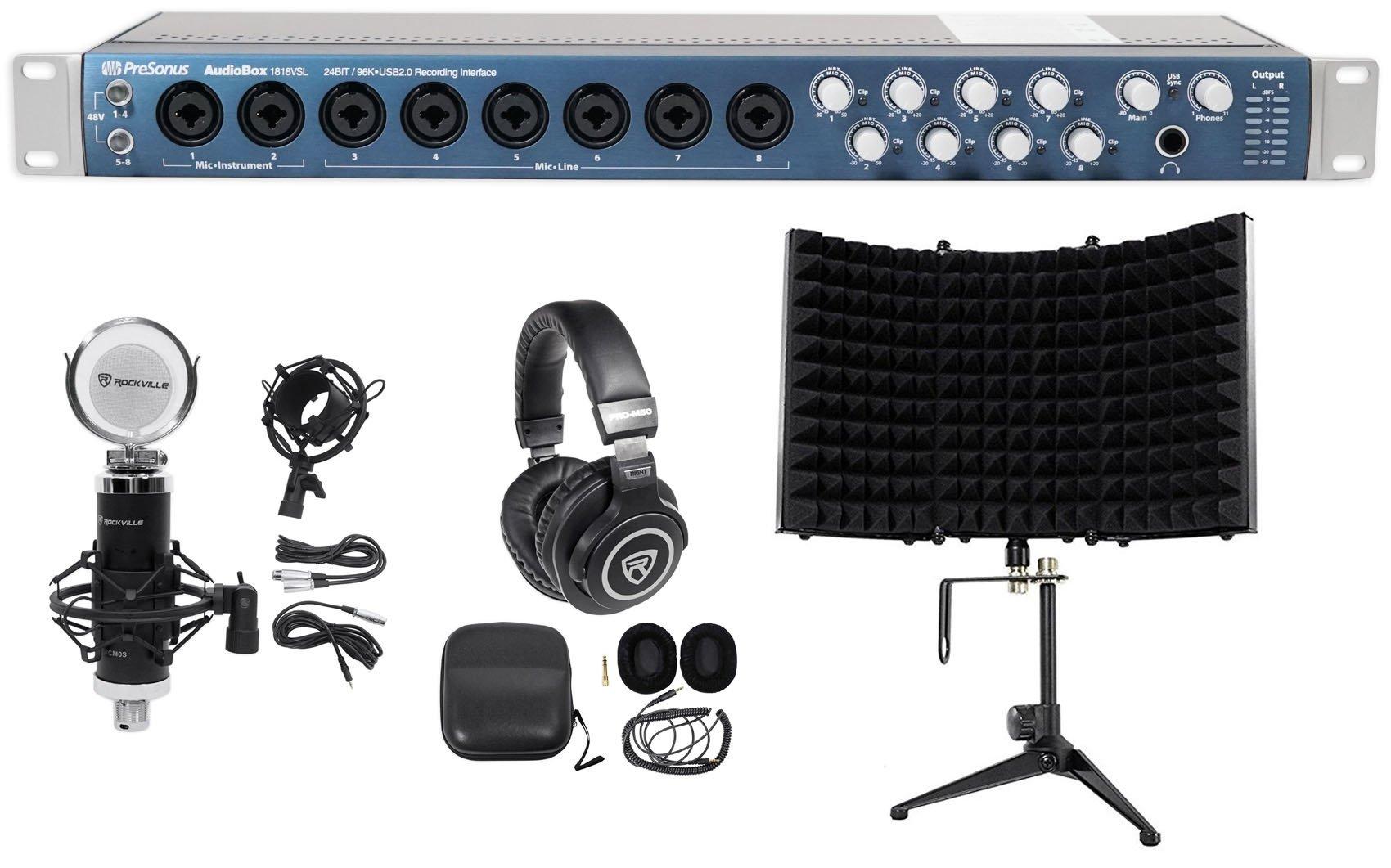 Presonus AUDIOBOX 1818VSL USB MIDI Interface w/Effects+Headphones+Mic+Shield