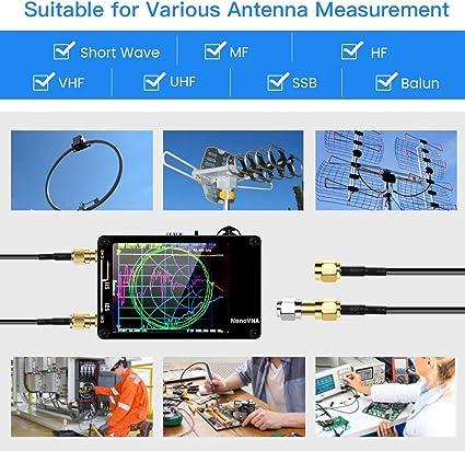 Wear Resistance Antenna Analysis Meter 50KHz‑3GHZ A Complete Metal Shell NanoVNA Network Analyzer Accuracy Antenna Analyzer for The Internal Precision Circuit