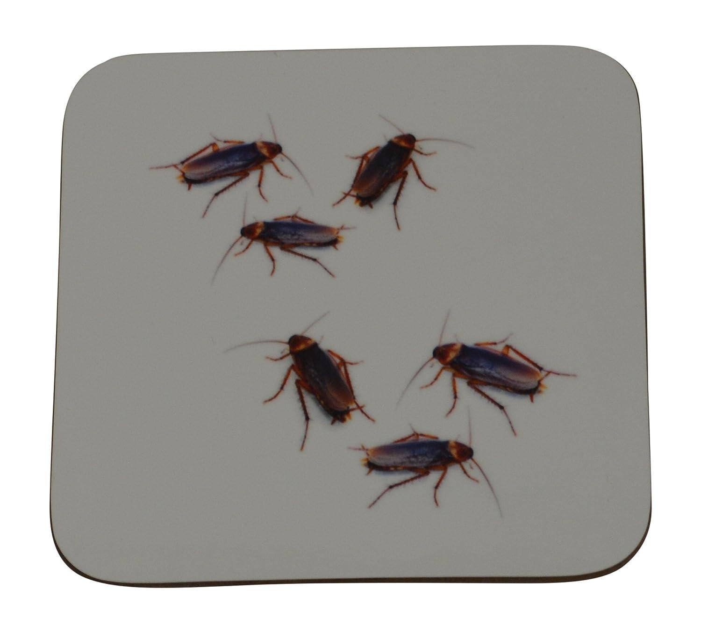 Funny Cockroaches Drink Coaster Set Gift Home Kitchen Bar Barware Cock Roach Joke Humor Gross